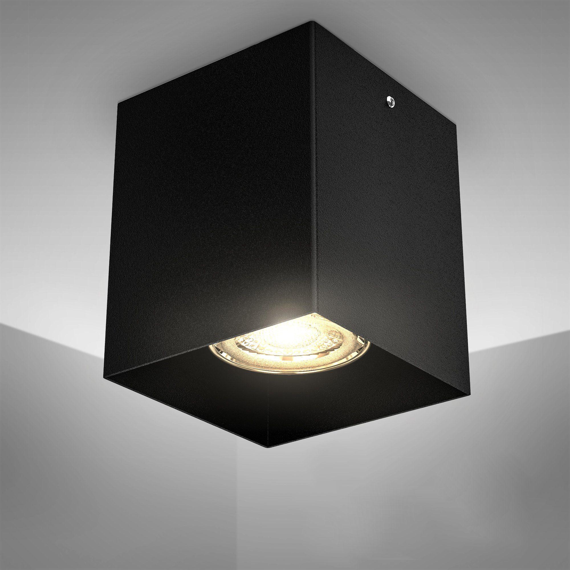 Lampenschirm Leinen hell viereckig 25cm universal