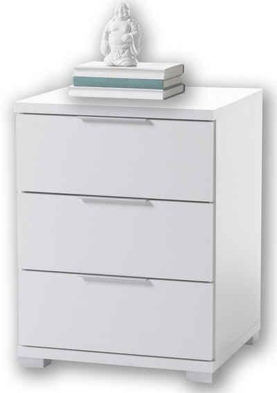 Aileenstore Nachtkommode »UNI H61«, Breite 46 cm, Weiß