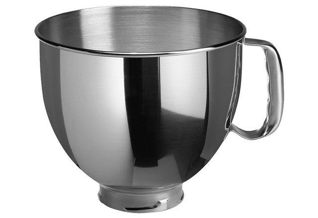 KitchenAid Küchenmaschinenschüssel 5K5THSBP , Edelstahl, passend für KitchenAid-Modelle mit 4,8 Liter Schüssel