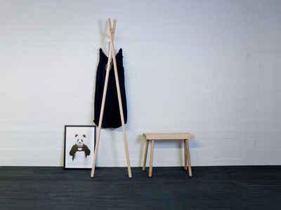 kommod Garderobe »LENAH«, Lehngarderobe, Standgarderobe, Design Wandgarderobe – 178 x 43 x 40 cm – Esche massiv natur