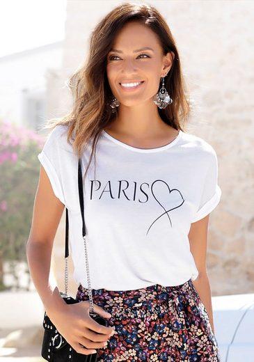 LASCANA Kurzarmshirt im Basic-Style