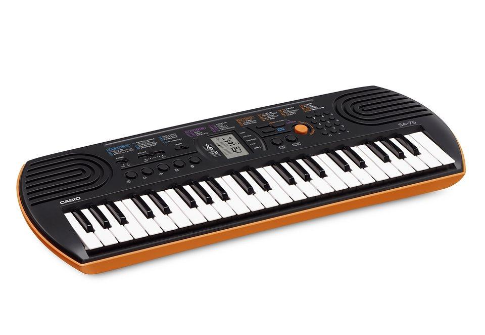 Mini-Keyboard, Casio®, »SA-76« in schwarz-orange