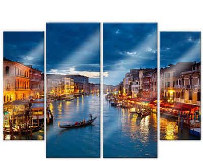 Wall-Art Mehrteilige Bilder »Canal Grande Venedig (4-teilig)«, (Set, 4 Stück)