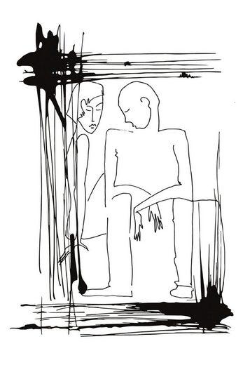 queence Acrylglasbild »Mann und Frau«