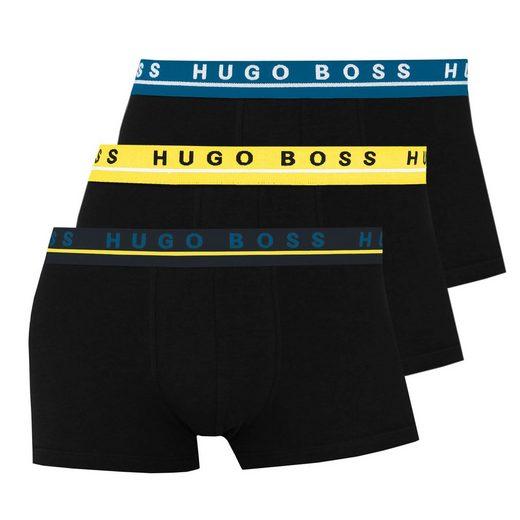 Boss Trunk »Herren Stretch Cotton« (3 Stück) mit umlaufendem Markenlogo auf dem Bund