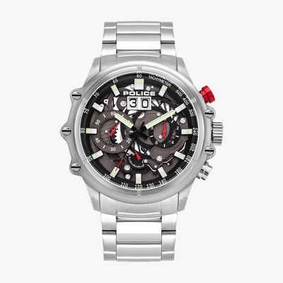 Police Chronograph »Police PL16018JS.13M Herren-Uhr Luang Chronograph Quarz Edelstahl-Armband«