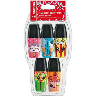 STABILO Marker »Textmarker BOSS MINI Sweet Friends, 5 Farben«