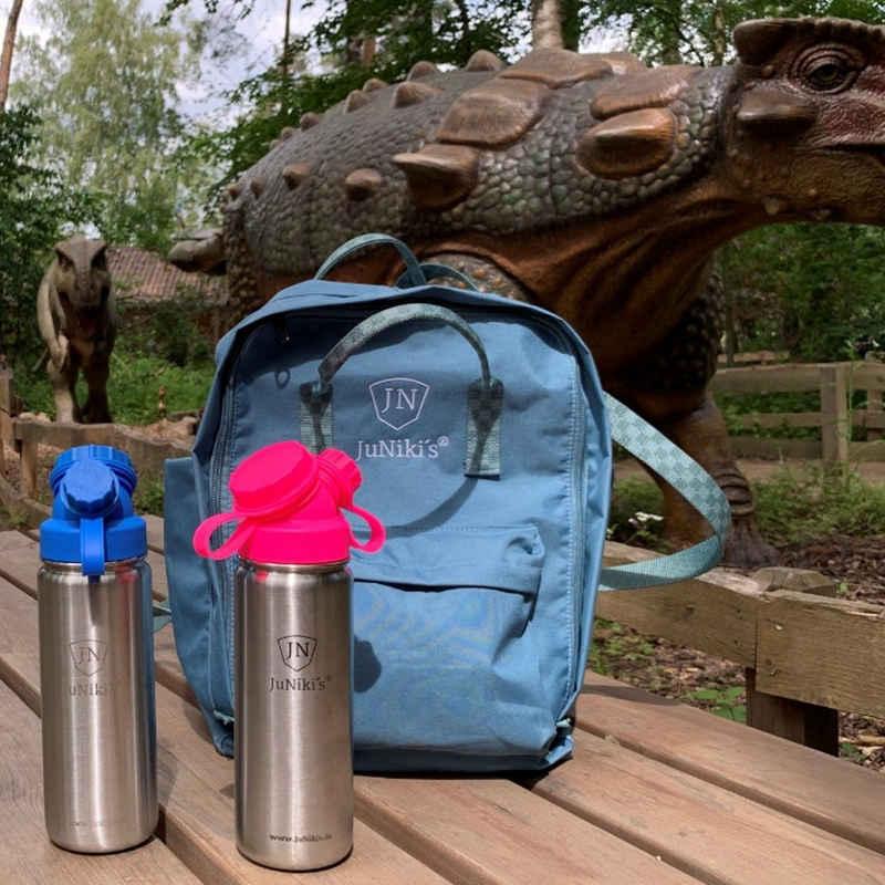 JN JuNiki´s Schulrucksack »Retro Innovation Rucksack im Set mit auslaufsicherer JuNiki´s® Trinkflasche aus isoliertem Edelstahl 550ml«, Ideal für Schule, Sport & Freizeit: Optimierter alltagstauglicher Schulrucksack mit 2 JuNiki´s® Trinkflaschen