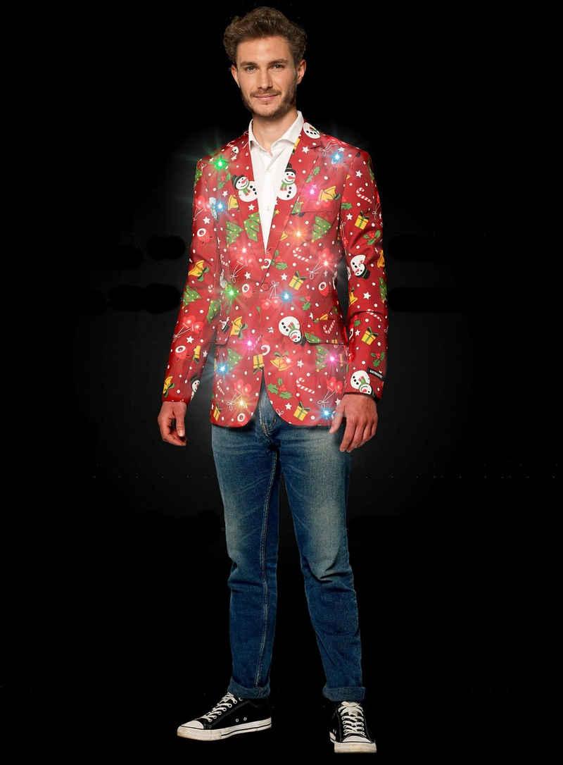 Opposuits Kostüm »SuitMeister Red Icon LED Jackett«