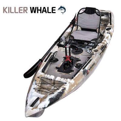 WIN.MAX Sit-on-Top Kajak »KILLER WHALE Kayak set Single Angelkajak 1 person mit Kombi-Paddel«, BxLxH: 77x360x30cm