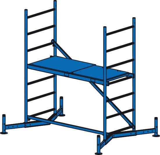 KRAUSE Fahrgerüst »ClimTec«, Max. Belastbarkeit 200 kg/qm