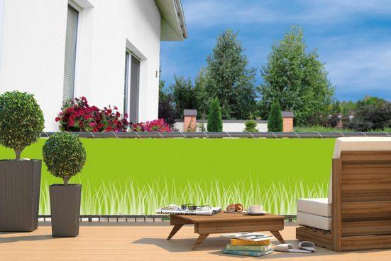 HECHT Balkonsichtschutz »Gras«, BxH: 600x90 cm