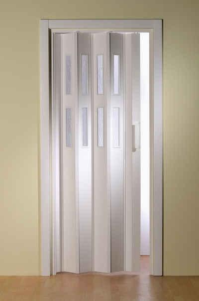 Falttür »Luciana«, BxH: bis 88,5x202 cm, kürzbar, Fenster mit Riffelstruktur