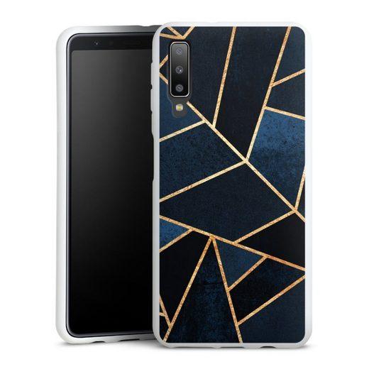 DeinDesign Handyhülle »Navy Stone« Samsung Galaxy A7 (2018), Hülle Elisabeth Fredriksson Dreiecke Abstrakt