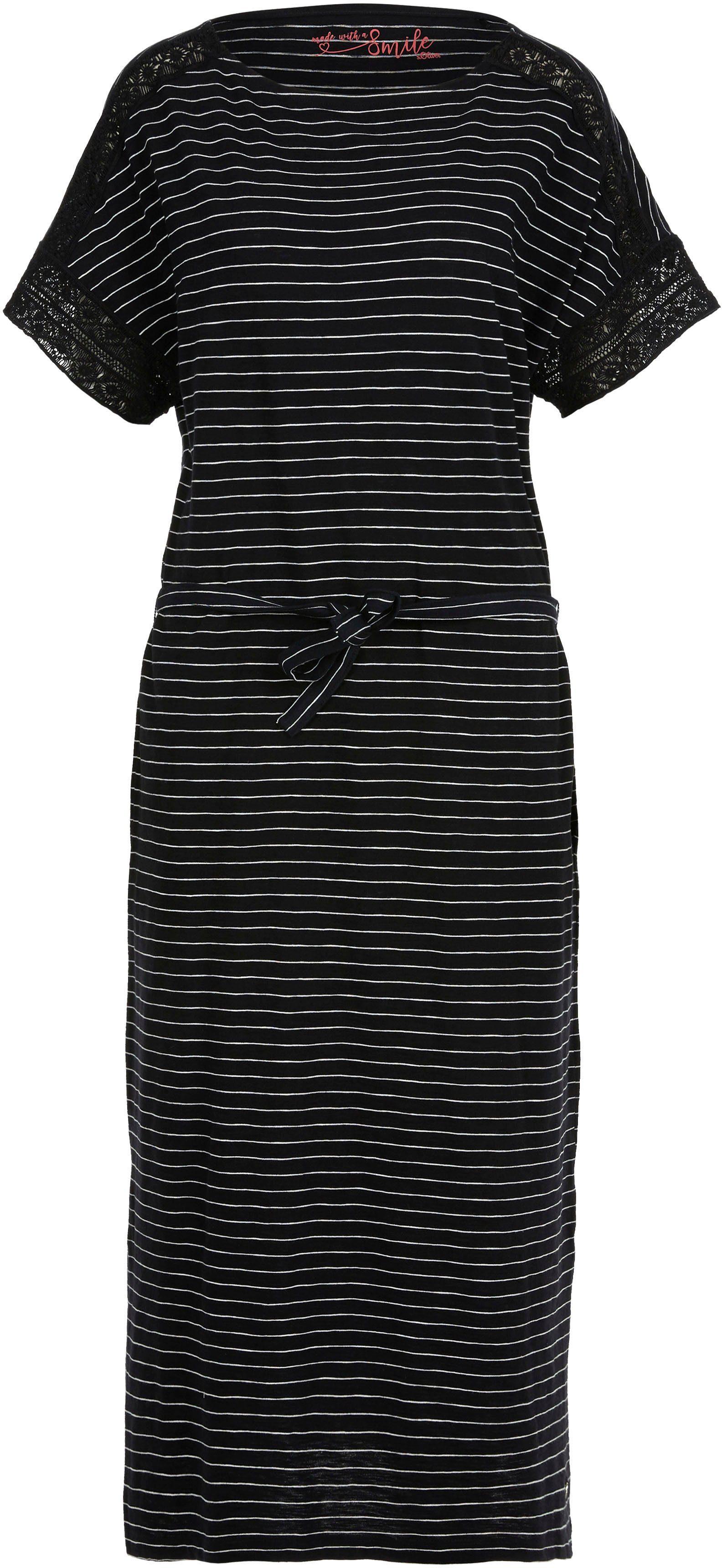 s.Oliver Jerseykleid mit Spitzen-Details kaufen