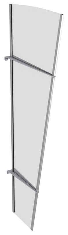 GUTTA Seitenblende »L Edelstahl«, TxH: 32-62x167 cm, klar