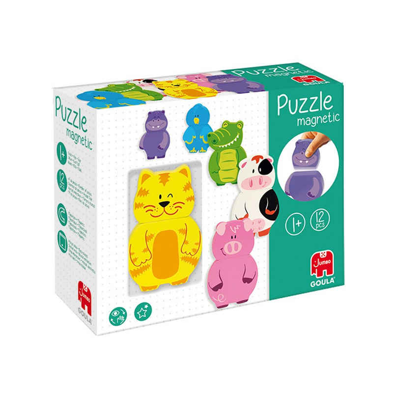 Goula Puzzle »Goula 55234 Magnetisches 12 Teile Holzpuzzle«, 12 Puzzleteile