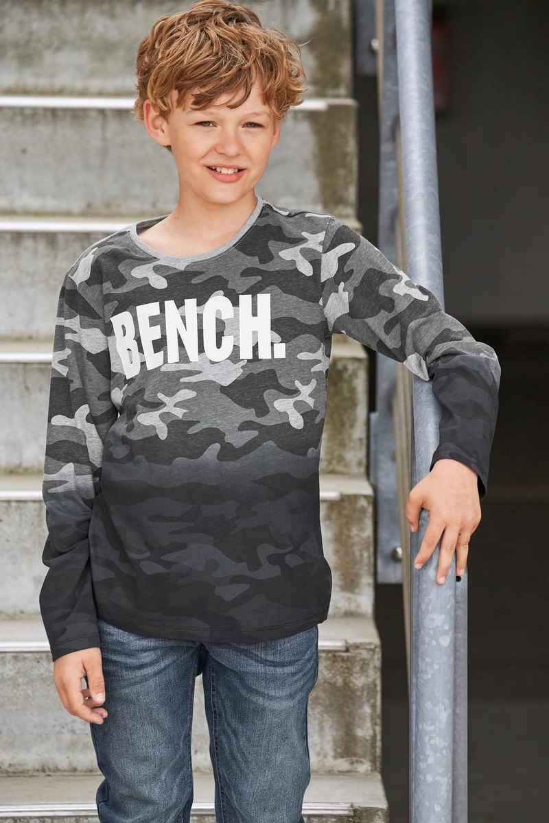 Bench. Langarmshirt »tarnfarben mit Farbverlauf«