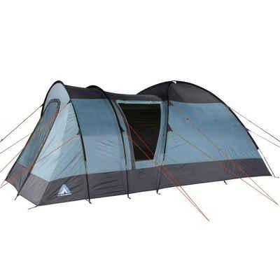 10T Outdoor Equipment Kuppelzelt »10T Rom 4 - 4 Personen Kuppelzelt, Campingzelt mit riesiger 8,6 m² XXL Schlafkabine, wasserdichtes Trekking Zelt mit«, Personen: 4