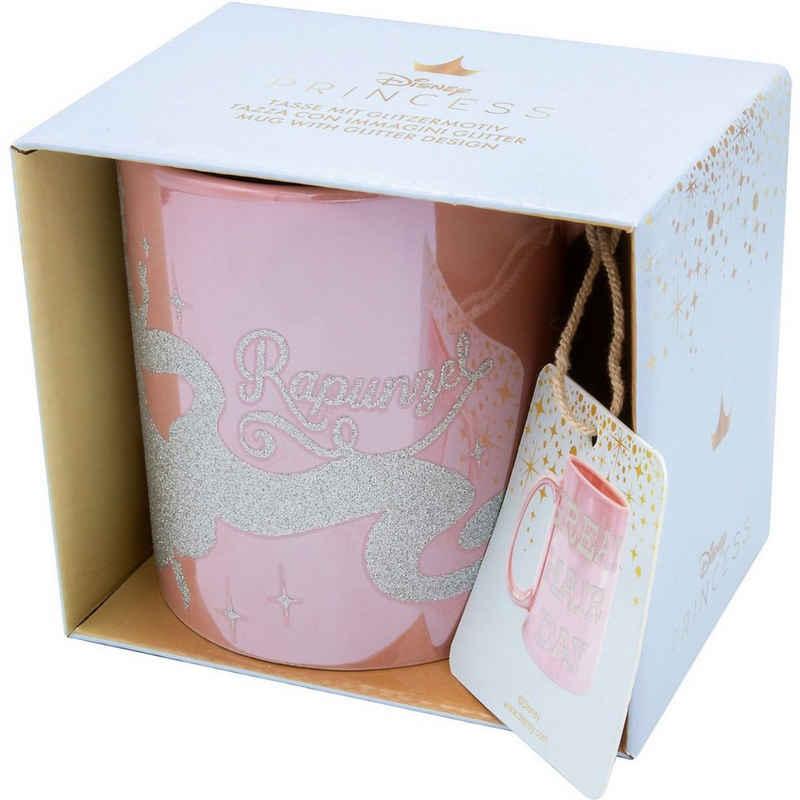 Joy Toy Tasse »Disney Rapunzel glänzende Tasse mit Glitzermotiven«