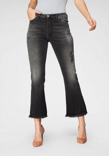 Please Jeans Destroyed-Jeans »P 27R« Kick-Flare mit ausgefranstem Saum