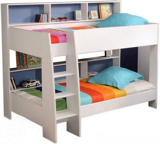 Parisot Hochbett, Etagenbett »Tam Tam« (2-St) Möbel Etagenbett Tam Tam Hochbett Kinderzimmer Doppelstockbett Rückwand blau oder pink Kinderbett