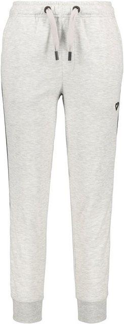 Hosen - Alife Kickin Jogger Pants »MonaAK« sportive Joggpants mit Seitentaschen seitlichem Tape › weiß  - Onlineshop OTTO