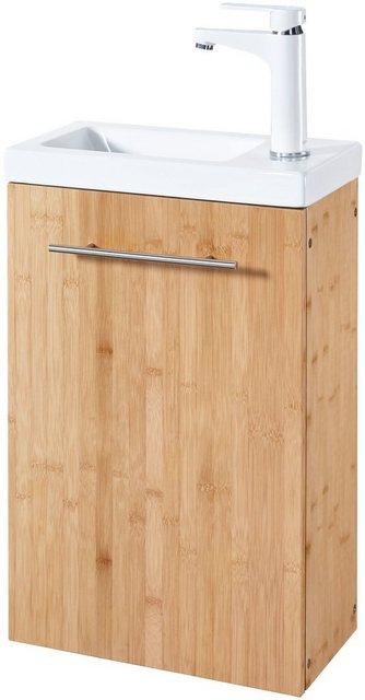 Waschtische - welltime Waschtisch »Bambus New«, Breite 40 cm, für das Gästebad, SlimLine  - Onlineshop OTTO