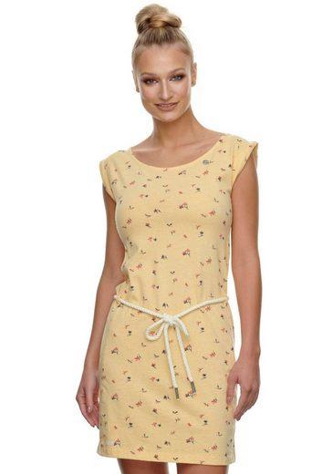 Ragwear Shirtkleid »TAMY« (2-tlg., mit Bindegürtel) mit Blumen Allover-Druck