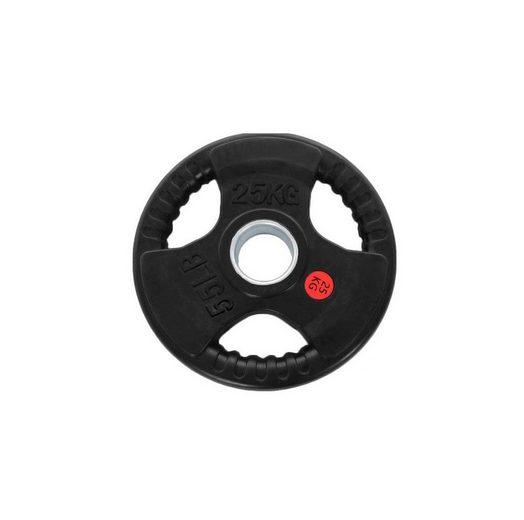 Technofit Hantelscheiben »Hantelscheiben 2x 25 kg schwarz gummiert für 50 mm Hantelstangen«
