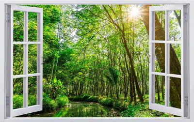 DesFoli Wandtattoo »Bach im Wald Natur Landschaft F3001«