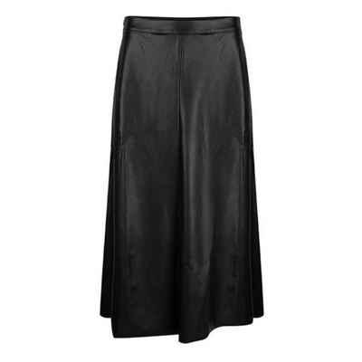 Esqualo Lederimitatrock »Esqualo F21.11505 Skirt long light PU black«
