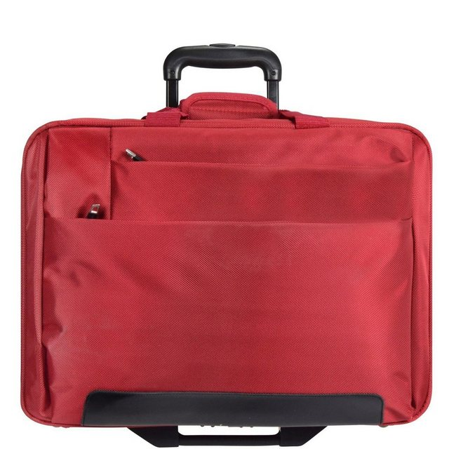Dermata 2-Rollen Trolley Business I 44,5 cm Laptopfach | Taschen > Koffer & Trolleys > Trolleys | Rot | Dermata