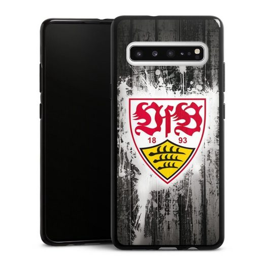 DeinDesign Handyhülle »VfB Stuttgart Splash« Samsung Galaxy S10 5G, Hülle VfB Stuttgart Offizielles Lizenzprodukt Bundesliga