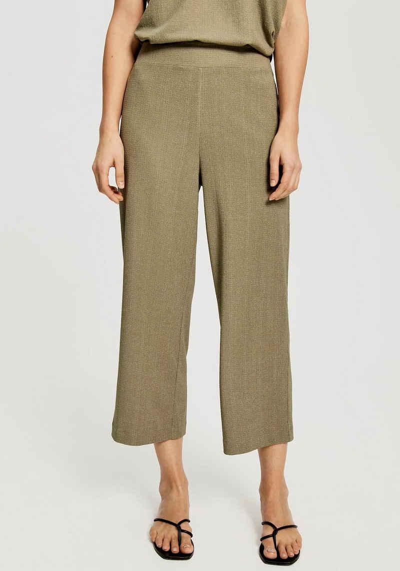 OPUS Culotte-Jeans »Mahila« mit Strukturmuster