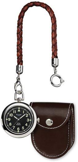Regent Taschenuhr »URP038 Regent Herren-Taschenuhr Analog P-38 mit«, (Analoguhr), Taschenuhr rund, groß (ca. 42mm), Metall verchromt, Elegant