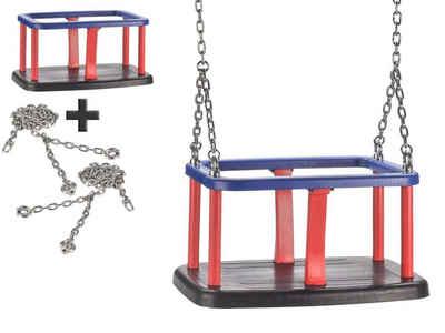 JustFun Einzelschaukel »Set«, Babyschaukel mit 180cm Edelstahl Ketten, Baby-Schaukelsitz