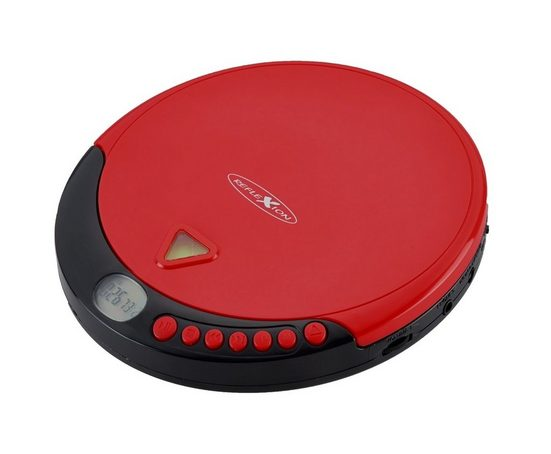 Reflexion »PCD500MP« tragbarer CD-Player (Tragbarer Discman CD/MP3-Player mit Hörbuchfunktion, Ohrhörer, Netz oder Batteriebetrieb)