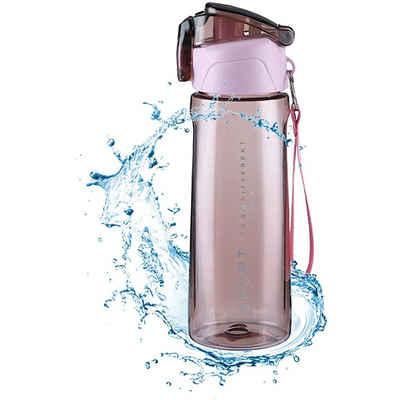 kueatily Wasserkessel »Sport Trinkflasche BPA Frei800ml Auslaufsichere Plastik Trinkflasche Sportflasche Fahrrad Flach für Camping Outdoor Yoga Gym«