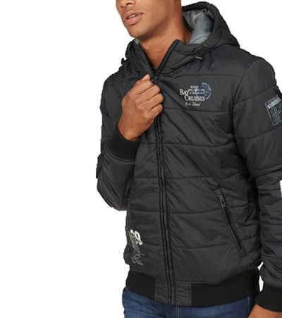 Rhode Island Steppjacke »Rhode Island Winter-Jacke attraktive Herren Stepp-Jacke mit lässigen Prints Puffer-Jacke Schwarz«