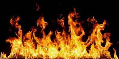 Papermoon Infrarotheizung »EcoHeat - offenes Feuer«, Glas Aluminium, 750 W, 66x126 cm, rahmenlos, energiesparendes Heizen für angenehme, gesunde und gleichmäßige Wärme