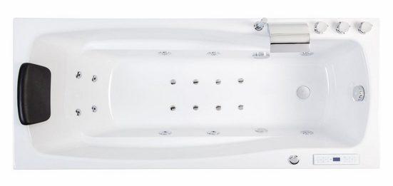 Emotion Whirlpool-Badewanne »Ocean 150 links Premium Whirlpool (L/B/H) 150/70/57,5cm«
