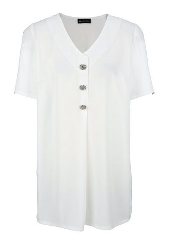 m. collection Ilgi marškiniai su Dekoknöpfen