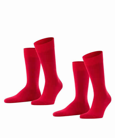 FALKE Socken »Happy 2-Pack« (2-Paar) Baumwollstrumpf für jedes Outfit