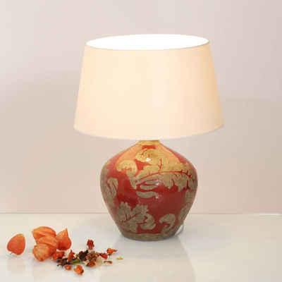 Holländer Tischleuchte »Toulouse Keramik Glasiert Rot-Schlamm«
