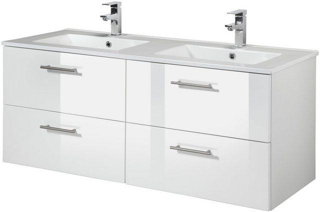Waschtische - WELLTIME Waschtisch »Trento«, Breite 120 cm, Doppelwaschtisch Doppelwaschbecken, 2 tlg.  - Onlineshop OTTO