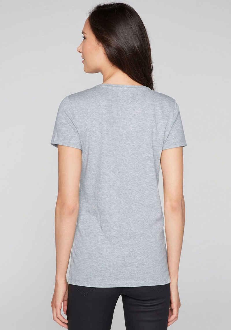 SOCCX T-Shirt mit Glitterdruck auf der Vorderseite