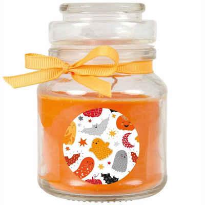 HS Candle Duftkerze (1-tlg), Halloween - Kerze im Bonbon Glas, Ideale Herbstdeko, viele vers. Größen