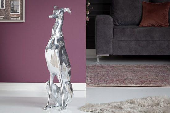 riess-ambiente Tierfigur »GREYHOUND 70cm silber« (1 Stück), im Modern Design