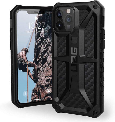 UAG Handyhülle »Monarch« Apple iPhone 12 Pro Max 17,0 cm (6,7 Zoll), [5-Schichten Schutz nach Militärstandard, Wireless Charging kompatibel, Sturzfeste Handyhülle, Ultra Slim Bumper] - carbon